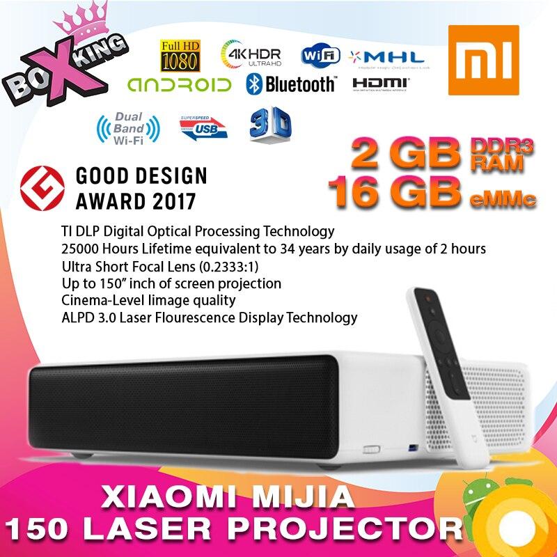 Dernières 2019 Xiaomi Mijia courte portée 150 Laser Projecteur TV international version 4 k 1080 p 2.4g/ 5g Bluetooth Dolby DTS 3D (p20)