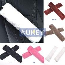 XUKEY из искусственной овчины, шерсти, меха, Авто Ремень безопасности, подплечники, чехол, зимний пушистый жгут, ремни безопасности, чехлы для сидений, стиль автомобиля, розовый