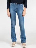 SOLADA Spring Autumn new high waist flare jeans woman elastic Broad straight legged