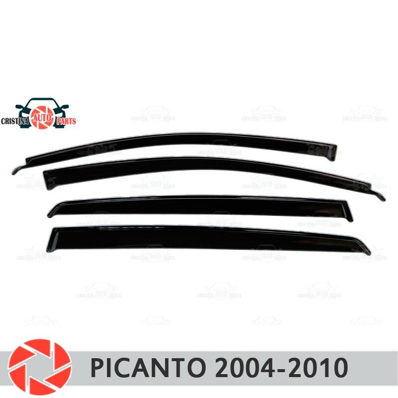 Deflector janela para Kia Picanto 2004-2010 chuva defletor sujeira proteção styling acessórios de decoração do carro de moldagem