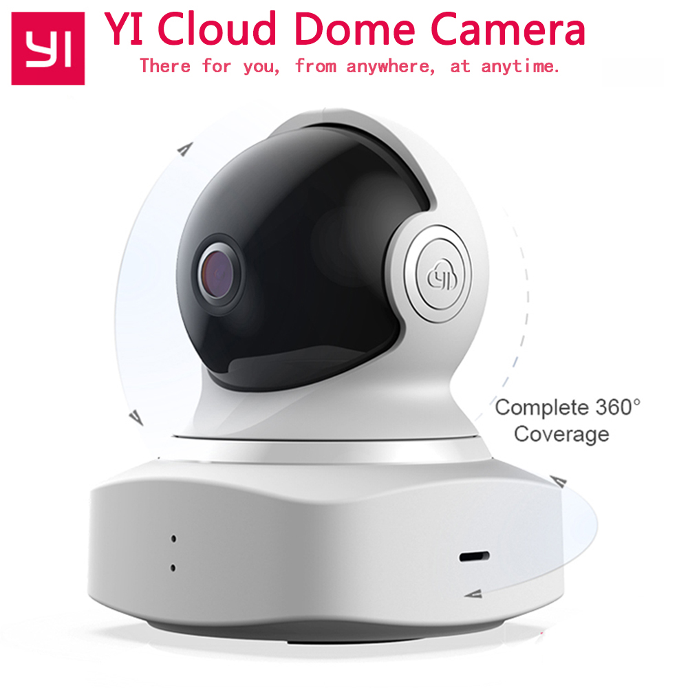 XIAOMI YI nuage dôme caméra bébé moniteur IP caméra 1080 P HD sans fil Wifi caméra panoramique/inclinaison/Zoom intérieur sécurité maison caméra