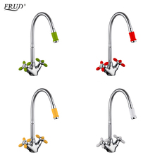 FRUD Innovative Fashion Kitchen Mixer Cold and Hot Water Flexible Kitchen Tap Red Yellow Green White Faucets Torneira r43127 6