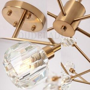 Image 5 - Nordic fashion transparent crystal Pendant Lamps modern living room ceiling lamps bedroom restaurant G9 LED Iron pendant lights