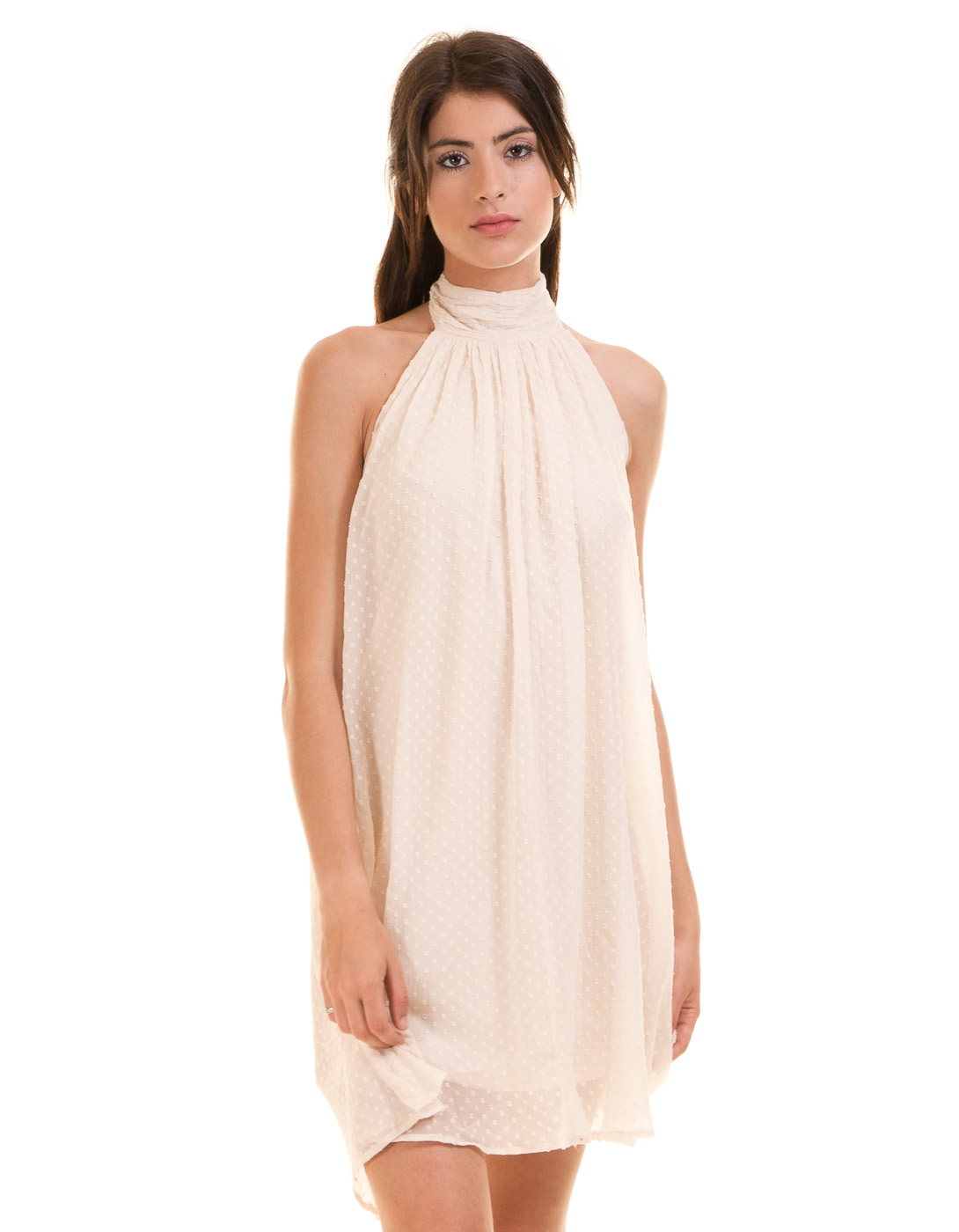 Vestido Cuello Halter Vishe De Vila Clothes In Vestidos From