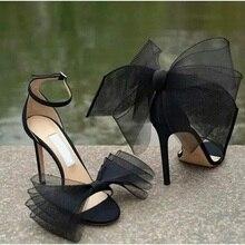 Wome High Heel Sandals Big Bow Sandals Gladiator Peep Toe Buckle Strap High Heels