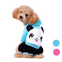 Panda Pattern Dog Winter Puppy Sweater Jacket Clothes Hoodie Coat Pet Supplies