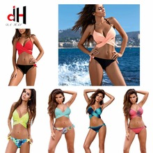 DA HAI Sexy Bikinis Swimwear Women 2017 New Summer bather X Bikini Set Multicolor Female Swimsuits Biquini Swimsuit Plus XXL V68