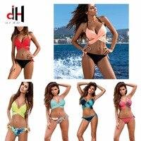 DA HAI Sexy Bikinis Swimwear Women 2017 New Summer Bather X Bikini Set Multicolor Female Swimsuits