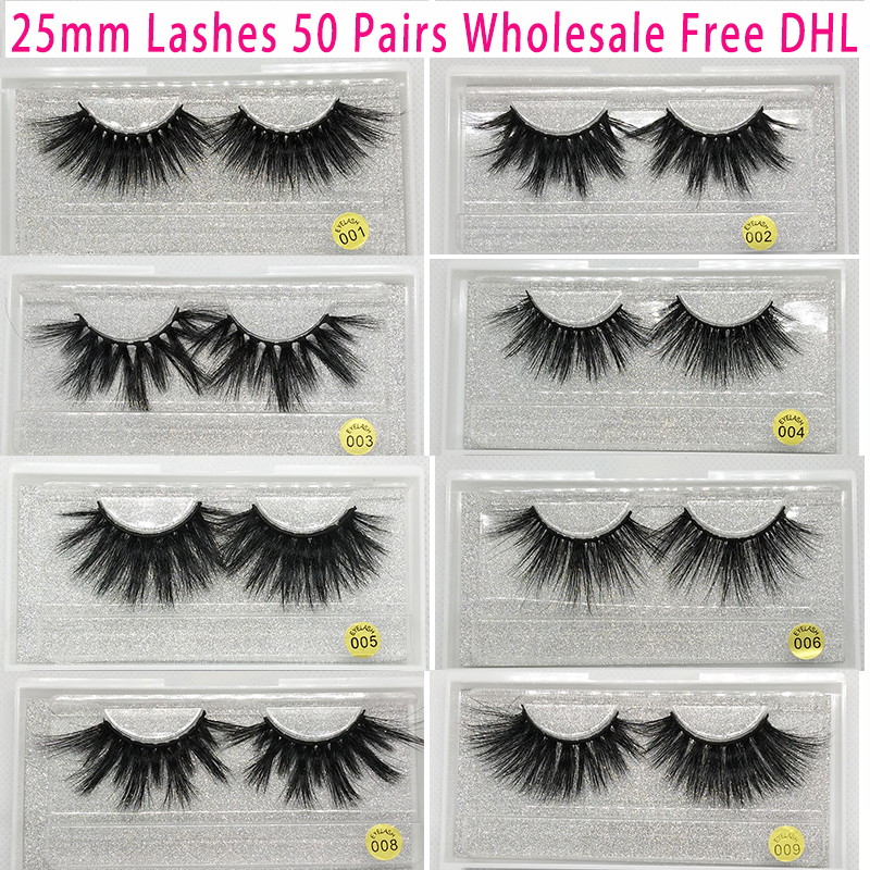 50 Pairs Free DHL Vip Momo 25mm Lashes Dramatic Mink Lashes Soft Long 3D Mink Eyelashes