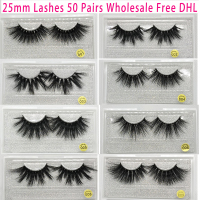 50 Pairs Free DHL Vip Momo 25mm Lashes Dramatic Mink Lashes Soft Long 3D Mink Eyelashes Crisscross Full Volume Eye Lashes Makeup