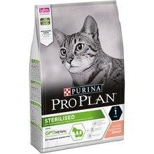 Сухой корм Purina Pro Plan для стерилизованных кошек и кастрированных котов, с лососем, 4 упаковки по 3 кг