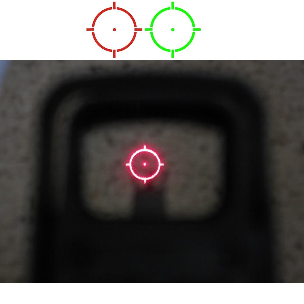 0 視差 551 552 553 赤、緑視力スコープ狩猟レッドドットリフレックスサイトライフル銃 20 ミリメートルマウント  グループ上の スポーツ & エンターテイメント からの ライフルスコープ の中 1