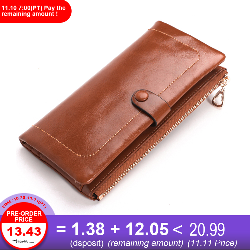 Fashion Wallet Women Luxury Female Carteira Feminina Long Wallets Ladies Oil Leather Zipper Purse Card Holders Clutch Money Bags long women wallets pu leather large capacity card holders ladies zipper clutch wallets print pineapple purse carteira feminina
