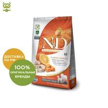 N&D Dog GF Pumpkin Adult Medium & Maxi корм для взрослых собак средних и крупных пород, Сельдь, тыква и апельсин, 2,5 кг.