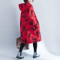 Vestidos Frauen Lose Kleid 2018 Frühling Winter Fashion Vintage Print Kleid Mit Kapuze Pullover Langarm Hoodies Kleid Plus Größe