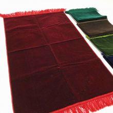 רגיל צבע האסלאמי תפילת שטיח שטיח תפילה מוסלמי JaNamaz סאלאט עיד אל adha מתנה