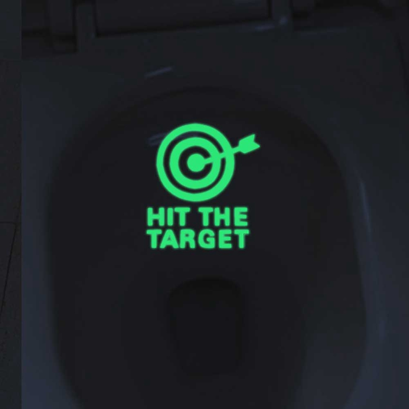 DIY Bathroom Toilet Luminous Paste Stickers Hit The Target Emitting Home Decor Home Décor Items Home, Furniture & DIY