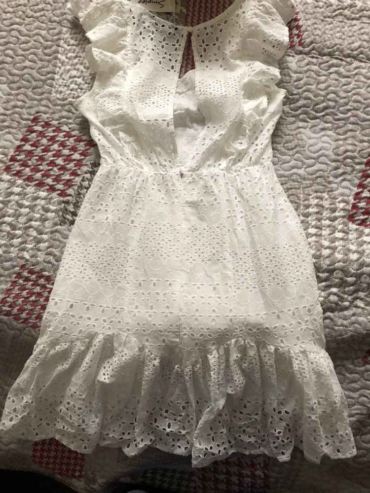 4e645397d1f09 (Dress) BerryGo JaMerry Vintage white lace cotton embroidery women Ruffled  Spring summer mini dress Sexy party short dresses 2019 vestidos-in Dresses  ...