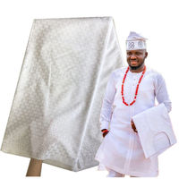 White Swiss Cotton Polish Lace Fabric with Stones For Men Soft Voile Lace In Switzerland Nigerian Cotton Polish Lace Material 30