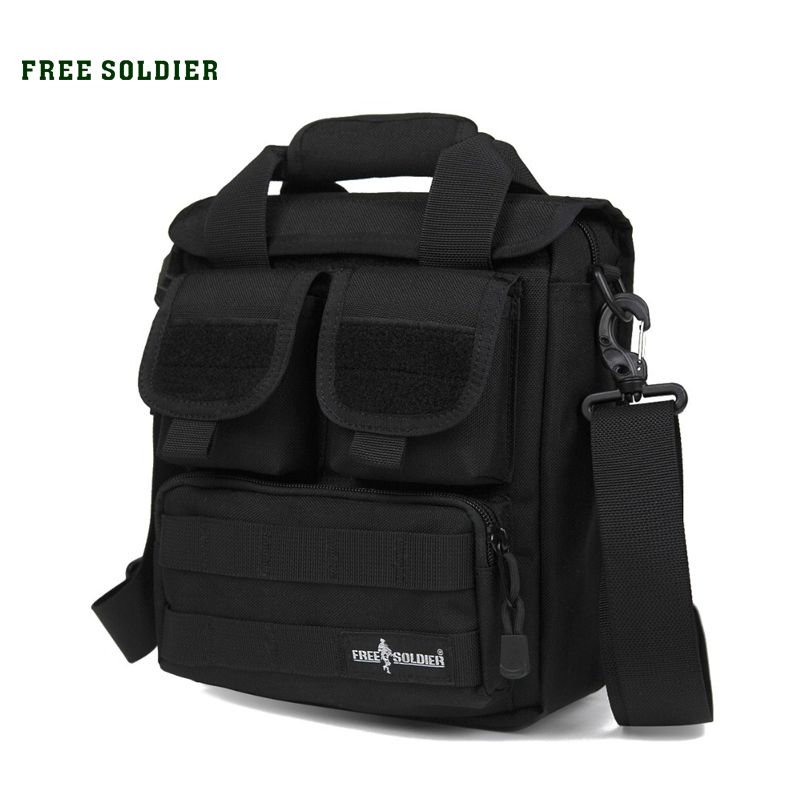 FREE SOLDIER Outdoor Sports Men's Tactical Handy Bags Single Shoulder Bags For Hiking Camping free soldier eod decorative rubber velcro armband black white