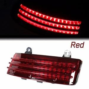 Image 1 - Red Tri Bar LED Rear Tail Brake Fender Tip Light For Harley 14 18 Street Glide&15 18 Road Glide Models