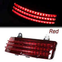 สีแดง Tri Bar ไฟท้าย LED เบรคไฟเคล็ดลับ Fender สำหรับ Harley 14 18 Street Glide & 15  18 Road Glide Models