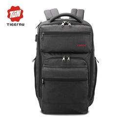 Tigernu 브랜드 남성 패션 mochila 포함 escolar 15.6 인치 노트북 USB 충전 여행 가방 백팩 안티 도난 캐주얼 학교 가방