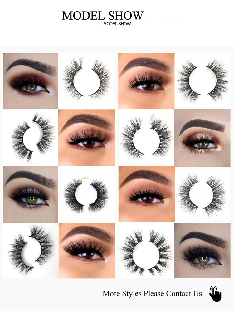 1 Pairs Cruelty Free Natural False Eyelashes Fake Lashes Long Makeup 3D Mink Lashes Extension Eyelash Mink Eyelashes For Beauty