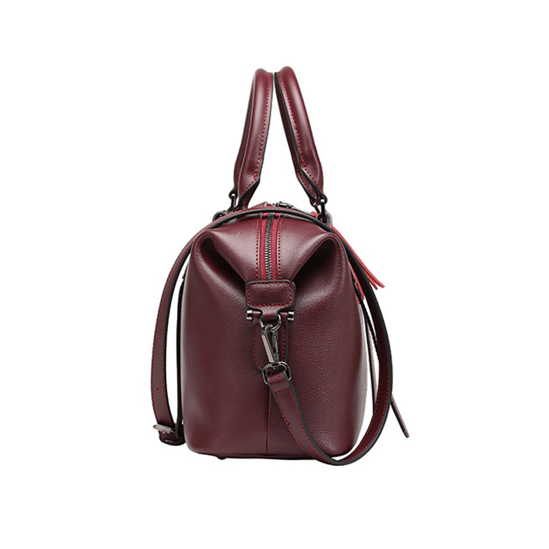 tout Fourre Épaule Cuir Naturel wine army De Sacs Femelle purple Mode gray Ordinateur Vintage Peau Main Véritable Vache Luyo Red Femmes Messenger En Black Boston Green À Portable Taro qXHB6RXw