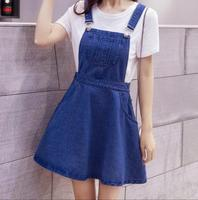 2018 new spring summer Jeans dress Japanese style Spaghetti Strap Kawaii Preppy Style Woman Denim Sundresses Vestidos s1756