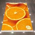 Еще желтые кусочки оранжевых фруктов 3d микрофибра Противоскользящий задний моющийся декоративный ковер для кухни