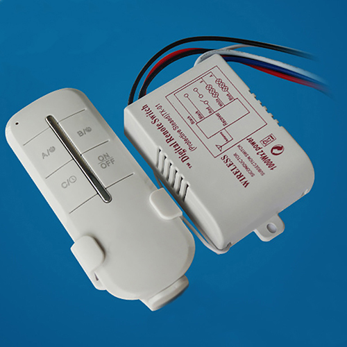 Wireless 2 Channel ON/OFF Lamp Digital Remote Control Switch Receiver Transmitter