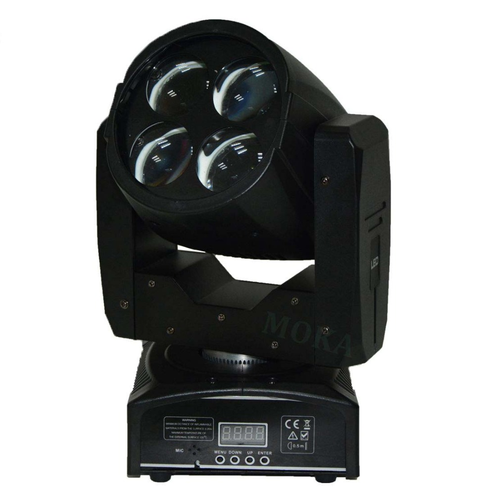 8pcs 4*10W Led Beam Spot Moving Head Lights White Color Source 3 Color+Open Color Wheel For Nightclub DJ Stage Party