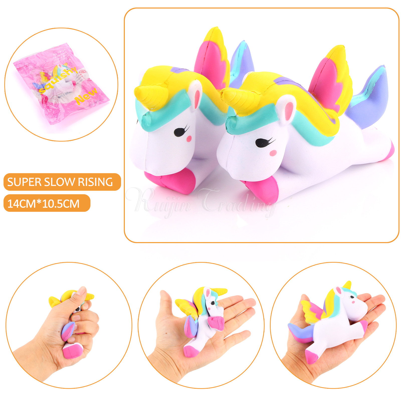 Aliexpress.com : Buy 15Pcs/lot Squishy Unicorn Slow Rising Kawaii Cute Phone Straps Pendant ...