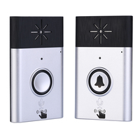 1 Set Silvery Color H6 1 to 1 Wireless Voice intercom Video doorphone Indoor door bell Visitor Calling System audio door phone