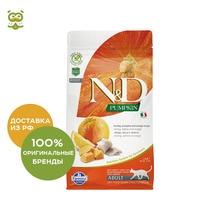 N&D Cat Pumpkin Herring&Orange Adult корм для взрослых кошек, Сельдь, тыква и апельсин, 300 г.