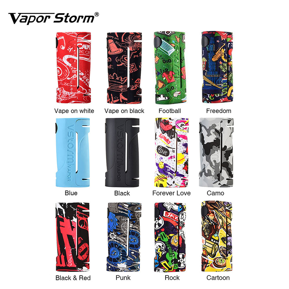 New Original Vapor Storm ECO Box Mod Max 90W Graffiti Color Bypass Mode 510 Thread No 18650 Battery Mod Vape Box Mod Vs Thor Mod new 90w vapor storm eco kit w 2ml vapor storm tank powered by 18650 battery max 90w output vape box mod vs vapor storm storm230