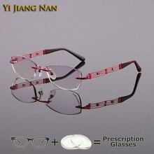 Yi Jiang Nan Fashionable Spectacle Frames Okulary Korekcyjne Eyeglasses Lunette De Vue Femme Prescription Glasses Women Eyewear