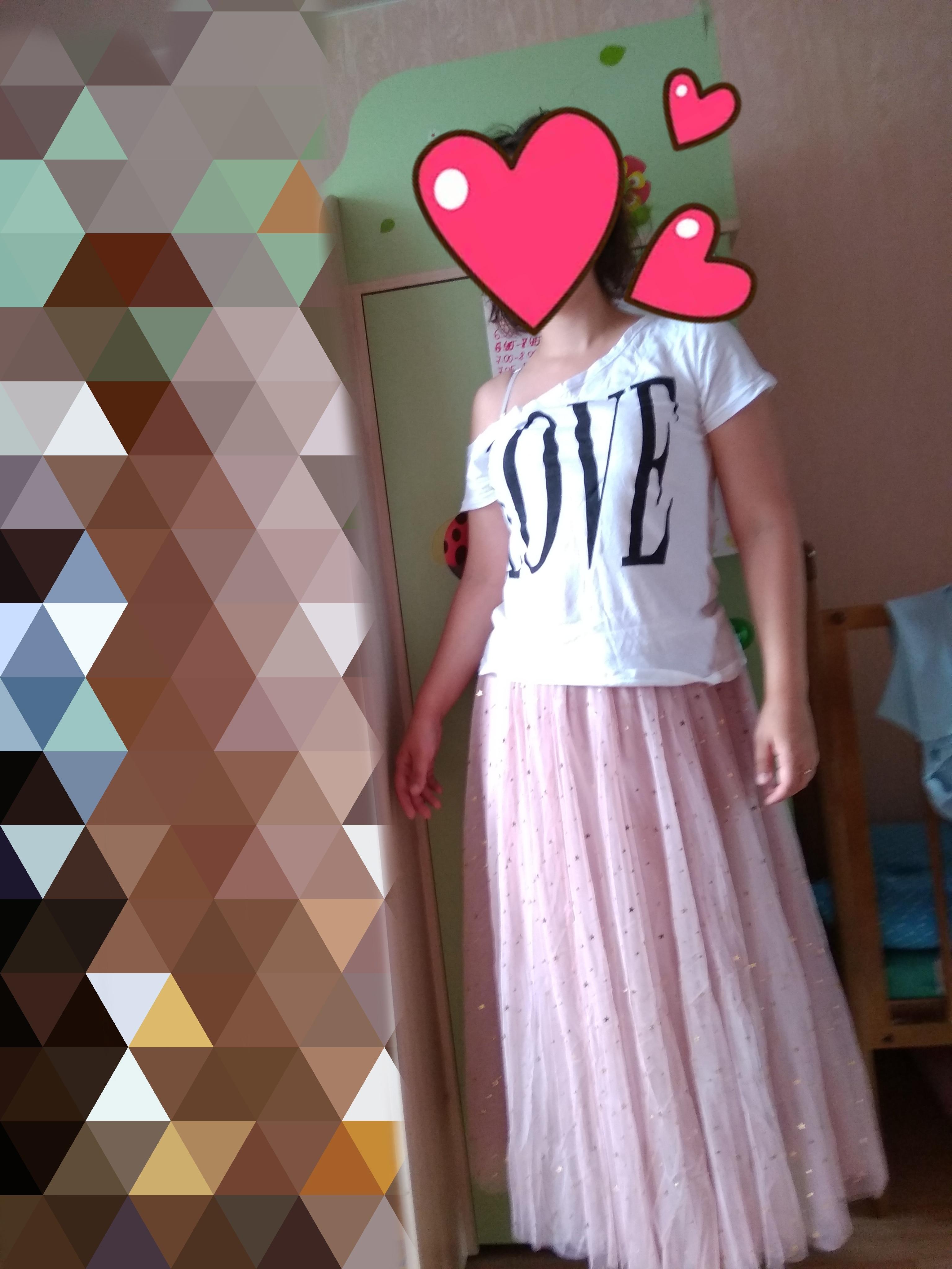 Spring Tulle Skirts Womens Fashion Shining Star Mesh Tutu Skirt Pleated Long Skirts Midi Skirt Saias Faldas Jupe Femme photo review
