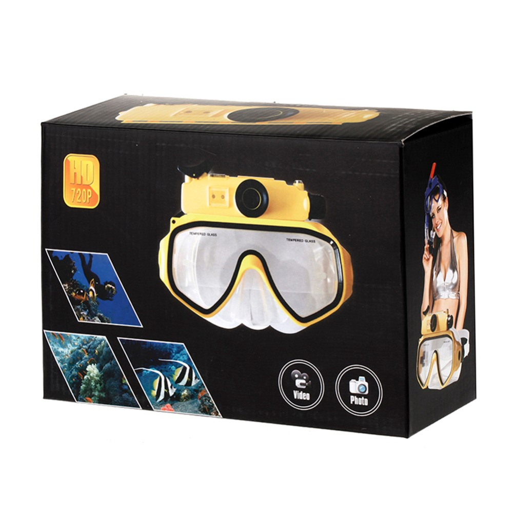 Caméra de plongée masques de plongée vue panoramique Anti-buée Anti-fuite natation tuba plongée sous-marine masque de plongée Compatible Cam - 4