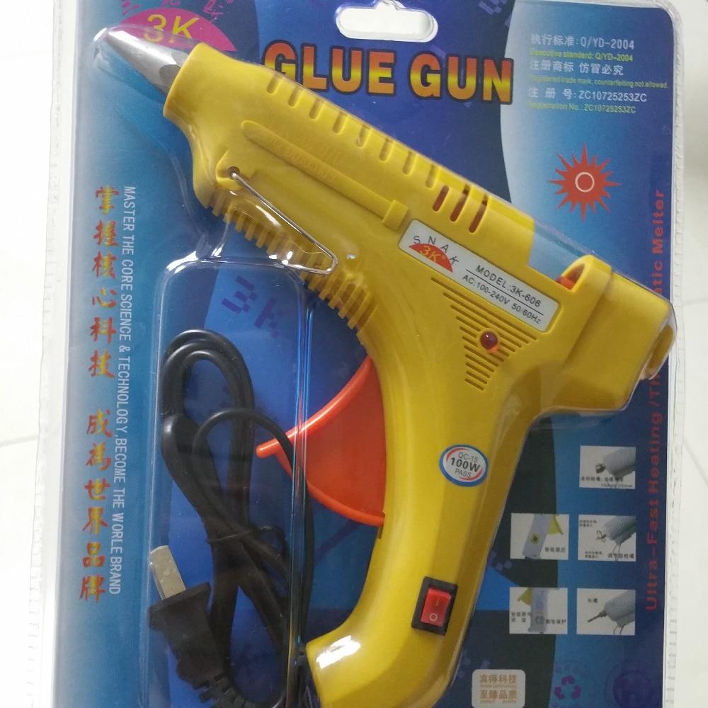 100W Hot Melt Glue Gun For Sealing Wax Stick Stamp  Hot Melt Glue Sticks 100-240V Electric Heat Temperature Tool Fit 11mm Glue