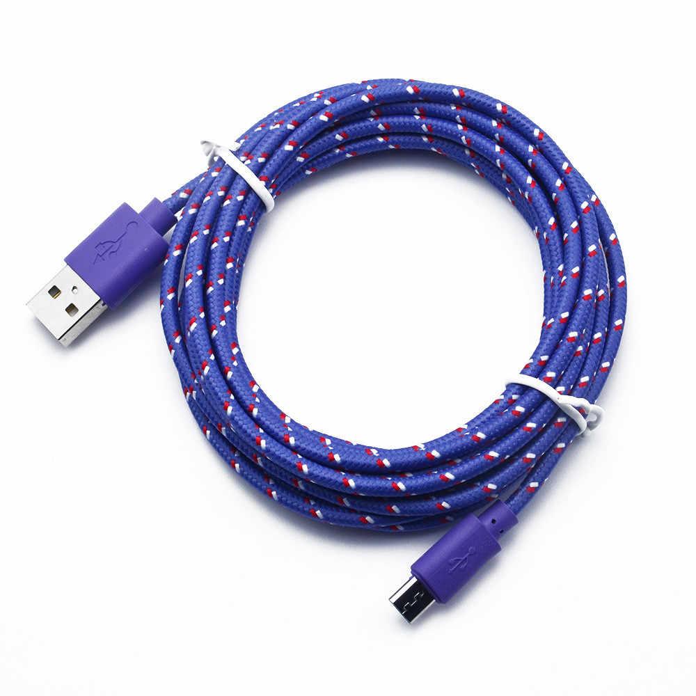 2M Micro USB Sạc Đồng Bộ Dữ Liệu Dây Dành Cho Điện Thoại Di Động Lightgreen Cáp Micro USB Điện Thoại Nhanh USB Sạc cáp MicroUSB Dây