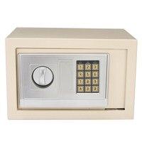 Safurance Digital Depository Drop Cash Safe Box Gun Jewelry Home Hotel Lock Keypad White Safety Security