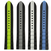 22mm Wholesale 18Pcs /Lots Green Grey Blue White Multicolor New Silicone Jelly Rubber Unisex Watch Band Straps WB1050 22