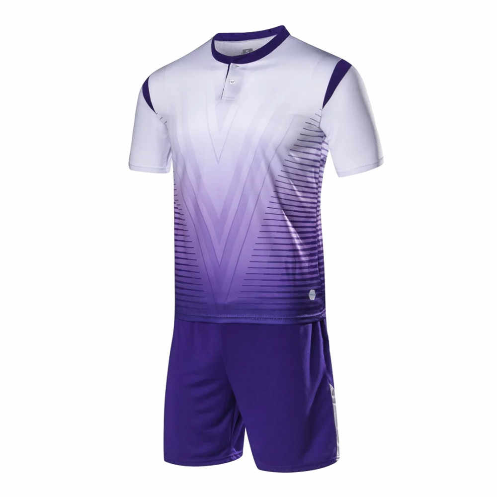 07830eb48 ... Men Soccer Jerseys Sport Kit Training Suit Football Volleyball Uniforms  Shirts Breathable Soccer sets Customized Pint ...