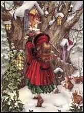 الشتاء هدية عد عبر عدة خياطة DIY اليدوية تطريز للتطريز 14 ct الصليب الابره مجموعات DMC اللون