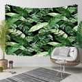 Sonst Schwarz Boden Grün Weiß Tropical Blätter Floral 3D Druck Dekorative Hippi Böhmischen Wand Hängen Landschaft Wandteppich Kunst