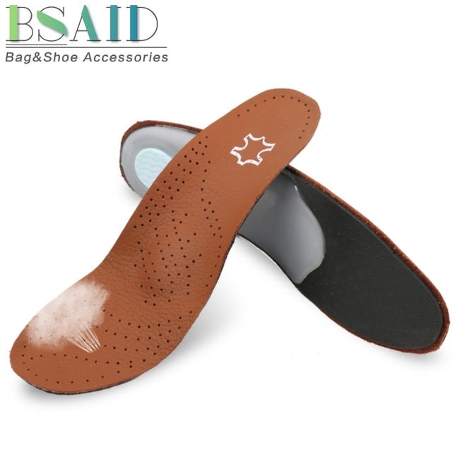 452f148a02 BSAID Unisex Foot Orthotic Shoe Insoles Insert, Genuine Leather Arch  Support Pads, Full Length Professional Insole For Men Women
