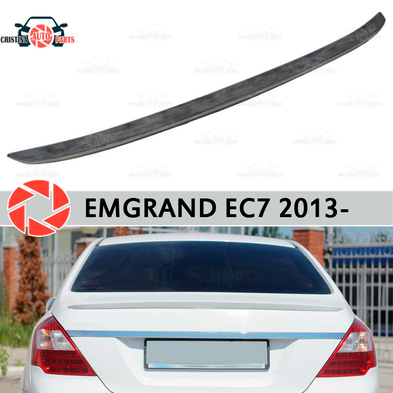 цены Lip spoiler for Geely Emgrand EC7 2013- plastic ABS decoration trunk door accessories protection car styling