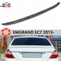 Lip spoiler for Geely Emgrand EC7 2013- plastic ABS decoration trunk door accessories protection car styling
